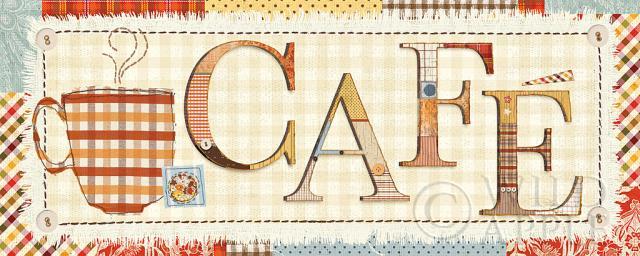 קפה בטלאיםחום, קפה, ספל, קולאז, כוסות, בד, טלאים, עבודת טלאים, תפירה, טקסטיל, מילים, כתיבה