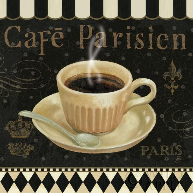 קפה פריזאישחור, קפה, קפוצ'ינו, ספל, סוכר, ארוחה, אוכל, צרפתי, מטבח, לאטה, פריז, פריזאי, לבן, מילים, כתיבה, טקסט, וינטג'