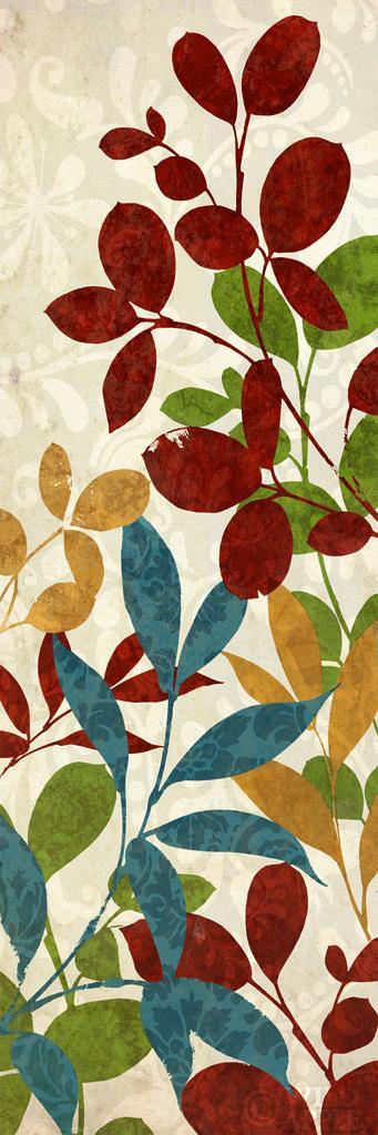 עלים של צבע 1כחול חום, צבעים, דקורטיבי, פרחוני, עלים, הדפס, טבעי, צבעוני, טקסטיל