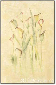 פרחים בשדה 3רומנטי עיצוב מודרני מינמליסטי טבע עדין גבעולים