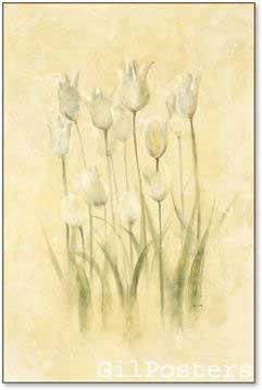 פרחים בשדה 2רומנטי עיצוב מודרני מינמליסטי טבע גבעולים