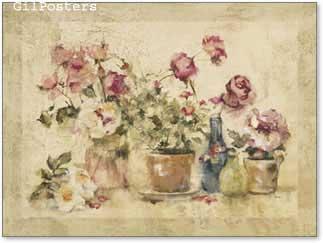פרחים רומנטיים על החלון