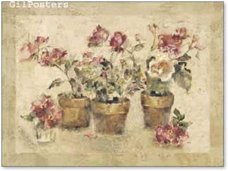 פרחים רומנטיים על החלון 2עיצוב אהבה רומן וורדים שושנים עציצים