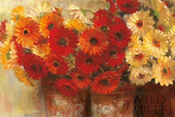 זר חינניזר , פרחים, פרחוני, קיצי, אביבי, אדום, פרחים אדומים, מרגניות,כתום