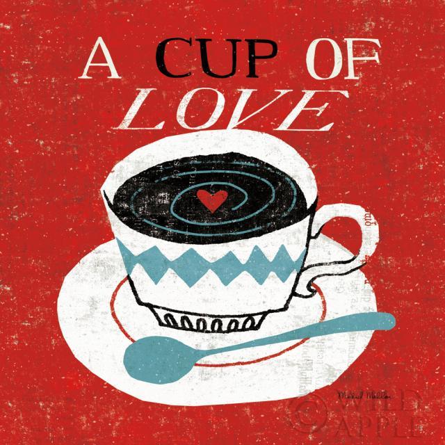 שולחן עבודה וינטג'- קפהאדום, שולחן עבודה, לב, לבבות, אהבה, מיושן, וינטג', אדום, רומנטי, אמירה, ספל, מתוק, לבן, מילה, מילים, כתיבה,
