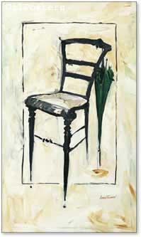 כיסא ומיטריה שחורהעיצוב שחור לבן מודרני עתיק דקורציה