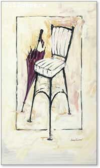 כיסא ומיטריה אדומהעיצוב שחור לבן מודרני עתיק דקורציה מינימליסטי
