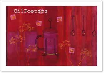 בקבוקים באדוםפרחים רקע אדום חזק