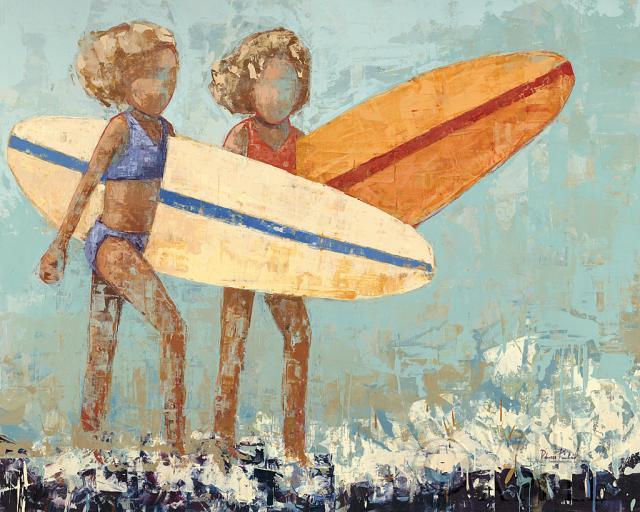 גלישה בביקיניבגד ים, חוף, ביקיני, שחור, חום, ילדה, ילד, ילדים, קרם, דקורטיבי, פיגורטיבי, אפור, ילדות, אוקיאנוס, כתום , כחול, אנשים, סגול, ספורט, גלשן, גלישה, מים, גלים