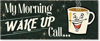 קפה הומוריסטי 1וינטג', שלט, לוח, גיר, בוקר,כרזה