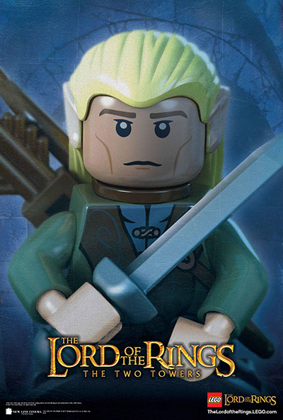 לגו - שר הטבעות  legoלגו   lego    אנימציה   Lord-of-the-Rings-Movie-Poster-Legolas     children-1043