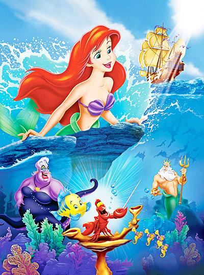 בת הים הקטנה -  דיסני  Disney    אנימציה   Disney-Princess-Posters   The Little Mermaid