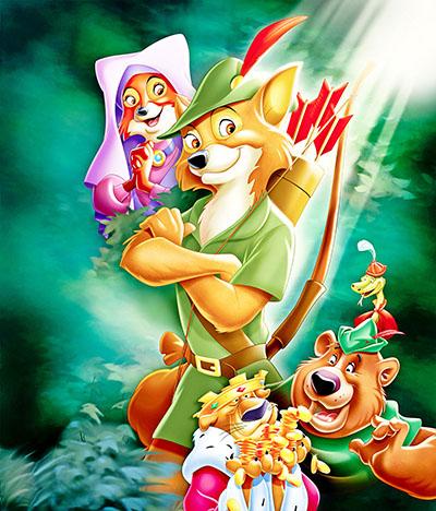 רובין הוד -  דיסני   Disney    אנימציה   walt-disney-posters- robin hood