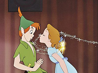 פיטר פן  -  דיסני   Disney    אנימציה   _walt-disney-screencaps-peter-pan-wendy-darling-tinker-bell