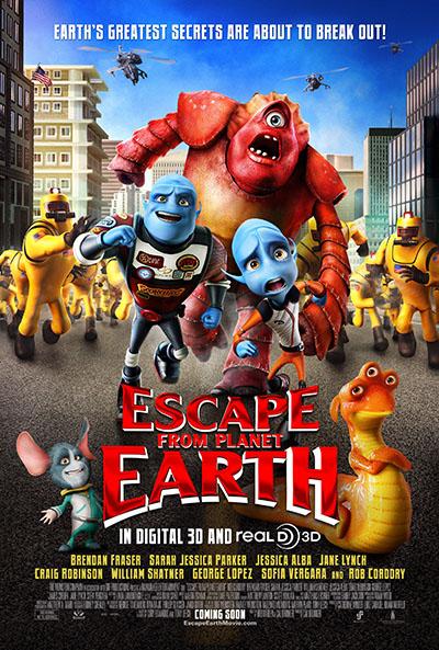 הבריחה מהארץ  - escape  from  planet  earthאנימציה  הבריחה מהארץ  - escape  from  planet  earth