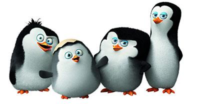 אנימציה  הפינגווינים ממדגסקר - penguins-madagascar