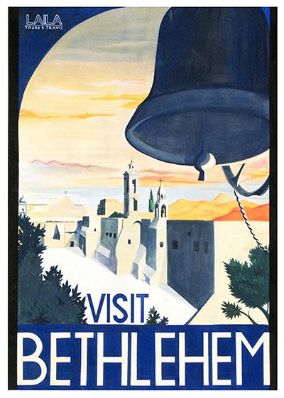 Visit Betlechem129  Visit Palestine יום העצמאות כרזות נוסטלגיה ישראליות פלסטינה קום המדינה ארץ ישראל