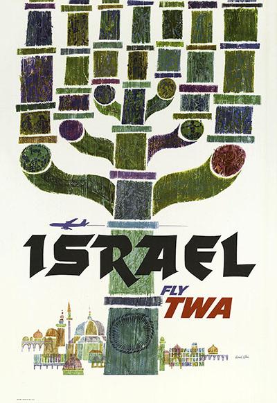 TWA129  כרזות נוסטלגיה ישראליות פלסטינה קום המדינה ארץ ישראל