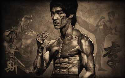 ברוס לי  Bruce Lee  - תמונה על קנבס,מוכנה לתליה.ברוס לי  Bruce Lee
