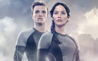 משחקי הרעב, ג'ניפר לורנס; ג'וש האצ'רסון  The Hunger Games - תמונה על קנבס,מוכנה לתליה.משחקי הרעב The Hunger Games