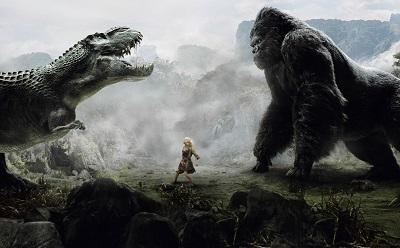 קינג קונג נגד גודזילה king kong vs godzilla - תמונה על קנבס,מוכנה לתליה.קינג קונג נגד גודזילה king kong vs godzilla