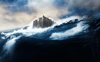 המבול Noah - תמונה על קנבס,מוכנה לתליה.המבול Noah