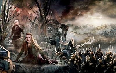 הוביט the hobbit the battle of the five armies - תמונה על קנבס,מוכנה לתליה.הוביט the hobbit the battle of the five armies