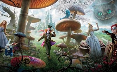 אליס בארץ הפלאות Alice in Wonderland - תמונה על קנבס,מוכנה לתליה.אנימציה   אליס בארץ הפלאות Alice in Wonderland