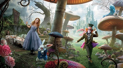 אליס בארץ הפלאות Alice in Wonderland - תמונה על קנבס,מוכנה לתליה.אליס בארץ הפלאות Alice in Wonderland