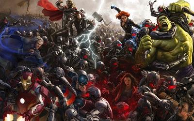 הנוקמים: עידן אולטרון Avengers: age of ultron - תמונה על קנבס,מוכנה לתליה.הנוקמים: עידן אולטרון Avengers: age of ultron