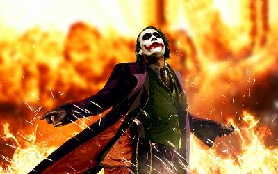 The Joker - תמונה על קנבס,מוכנה לתליה.The Joker