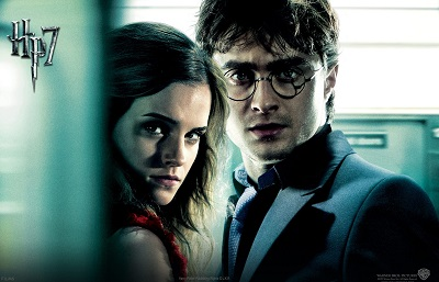 Harry potter and the deathly hallows - תמונה על קנבס,מוכנה לתליה.Harry Potter and the deathly hallows