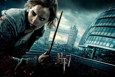Harry Potter and the deathly hallows hermione - תמונה על קנבס,מוכנה לתליה.Harry Potter and the deathly hallows hermione