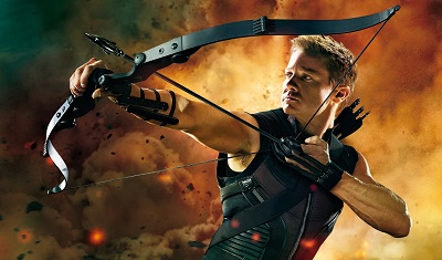 Hawkeye in the avengers  - תמונה על קנבס,מוכנה לתליה. Hawkeye in the avengers