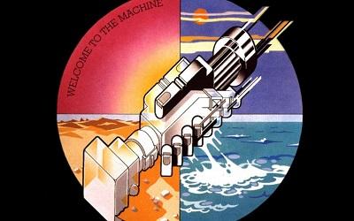 - welcome to the machine Pink Floyd - תמונה על קנבס,מוכנה לתליה.Pink Floyd