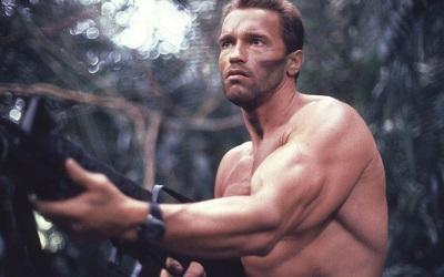 הטורף Predator Arnold Schwarzenegger  - תמונה על קנבס,מוכנה לתליה.הטורף Predator Arnold Schwarzenegger