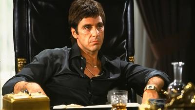 פני צלקת  Scarface Al Pacino - תמונה על קנבס,מוכנה לתליה.פני צלקת  Scarface Al Pacino