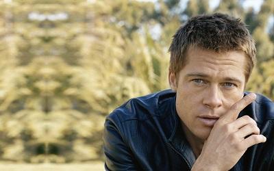בראד פיט Brad Pitt  - תמונה על קנבס,מוכנה לתליה.בראד פיט Brad Pitt