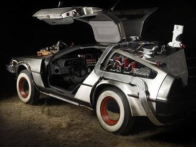 בחזרה לעתיד  back to the future   - תמונה על קנבס,מוכנה לתליה. back to the future car time machine