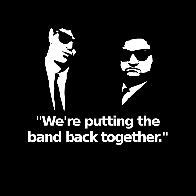 האחים בלוז Blues Brothers   - תמונה על קנבס,מוכנה לתליה.Blues Brothers