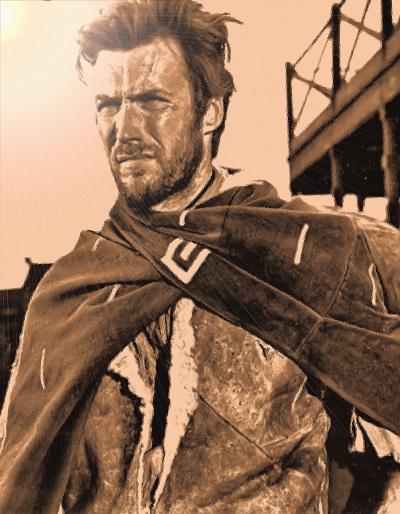 קלינט איסטווד clint eastwood  - תמונה על קנבס,מוכנה לתליה.קלינט איסטווד clint eastwood