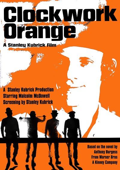 התפוז המכני clockwork orange - תמונה על קנבס,מוכנה לתליה.התפוז המכני clockwork orange