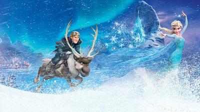 פרוזן kristoff elsa in  frozen - תמונה על קנבס,מוכנה לתליה.פרוזן אנימציה elsa in  frozen