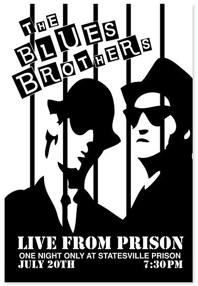 אחים  בלוז    The Blues Brothers  - תמונה על קנבס,מוכנה לתליה. אחים  בלוז    The Blues Brothers