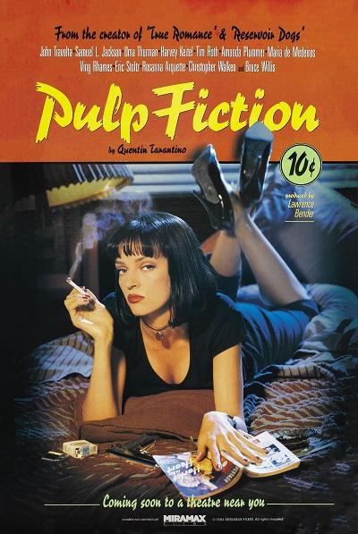 ספרות זולה pulp fiction - תמונה על קנבס,מוכנה לתליה.ספרות זולה pulp fiction