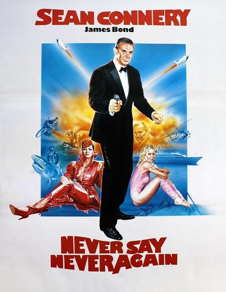 גימס בונד never say never - תמונה על קנבס,מוכנה לתליה.סרטים ישנים  גימס בונד never say never