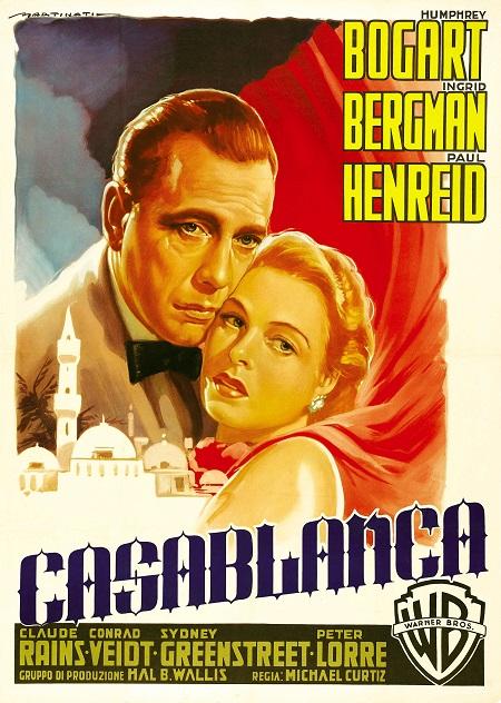 המפרי בוגרט - קזבלנקה - Casablanca - תמונה על קנבס,מוכנה לתליה.סרטים ישנים המפרי בוגרט - קזבלנקה - Casablanca