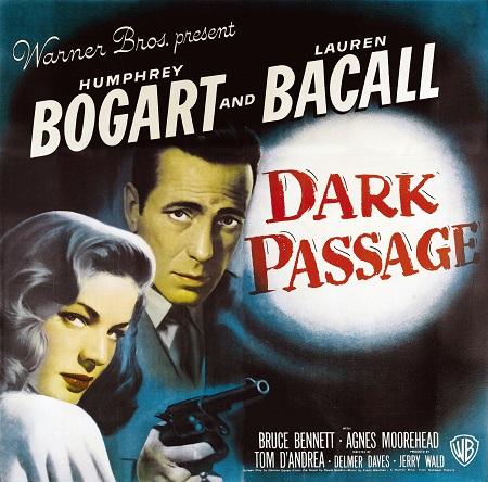 המפרי בוגרט -  humphry bugart - Dark Passage - תמונה על קנבס,מוכנה לתליה.סרטים ישנים המפרי בוגרט -  humphry bugart - Dark Passage