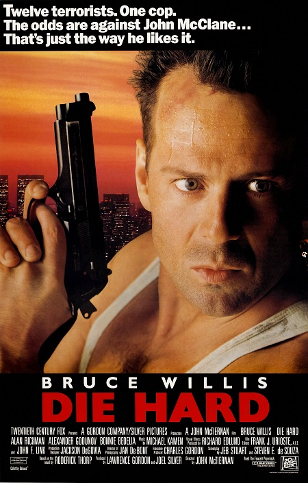 מת לחיות -  ברוס ויליס  Die hard- תמונה על קנבס,מוכנה לתליה.מת לחיות -  ברוס ויליס  Die hard- תמונה על קנבס,מוכנה לתליה.