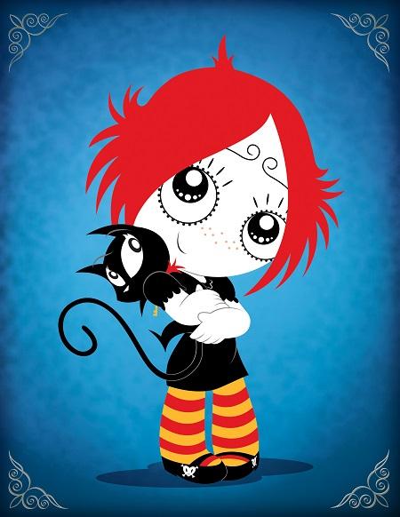 ruby gloom  -  תמונה על קנבס,מוכנה לתליה.  ruby gloom  אנימציה -  תמונה על קנבס,מוכנה לתליה.